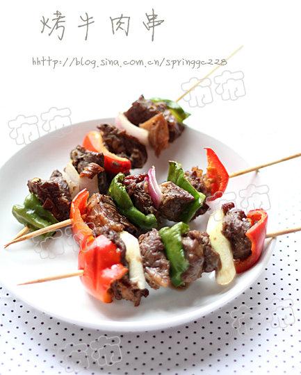 烤牛肉串:换种吃法吃牛肉