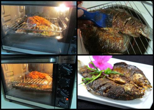 香辣烤鲫鱼的做法